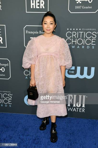 Lulu Wang attends the 25th Annual Critics' Choice Awards held at Barker Hangar on January 12 2020 in Santa Monica California