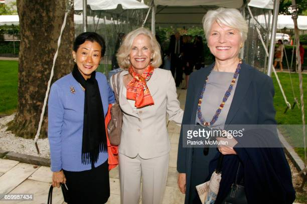 Lulu Wang Marne Pillsbury and Isabel Fowlkes attend The Twelfth Annual WOMEN SCIENCE Spring Lecture and Luncheon at The Rockefeller University on May...