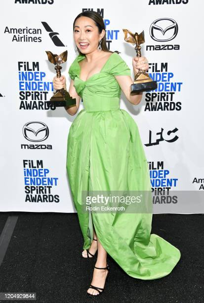 Lulu Wang winner of Best Feature for The Farewell poses in the press room at the 2020 Film Independent Spirit Awards on February 08 2020 in Santa...
