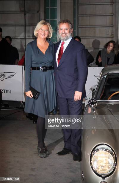 Lulu Williams and Hugh Bonneville attend a VIP screening of 'Skyfall' hosted by Aston Martin at The Curzon Mayfair on October 24 2012 in London...