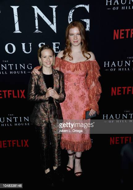 Lulu Wilson and Annalise Basso arrive for Netflix's 'The Haunting Of Hill House' Season 1 Premiere held at ArcLight Hollywood on October 8 2018 in...