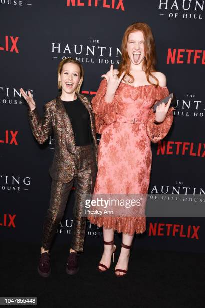 Lulu Wilson and Annalise Basso attend Netflix's 'The Haunting Of Hill House' Season 1 Premiere Arrivals at ArcLight Hollywood on October 8 2018 in...