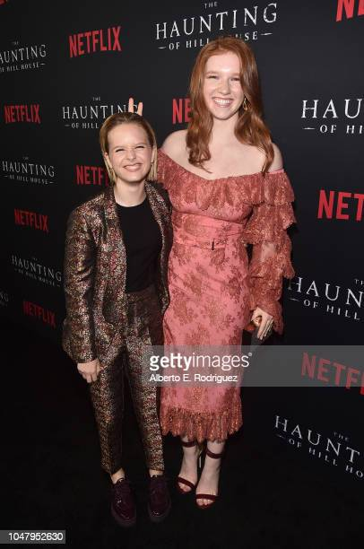 Lulu Wilson and Annalise Basso attend the premiere of Neflix's 'The Haunting Of Hill House' at ArcLight Hollywood on October 8 2018 in Hollywood...