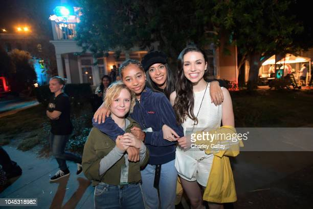 Lulu Wilson Tayler Buck Stephanie Sigman and Grace Fulton attend the Warner Bros Studio Tour Hollywood Horror Made Here A Festival Of Frights on...