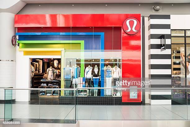 lululemon athletica shop canada - lululemon stock pictures, royalty-free photos & images