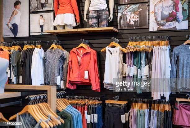 Lululemon Athletica store interior.