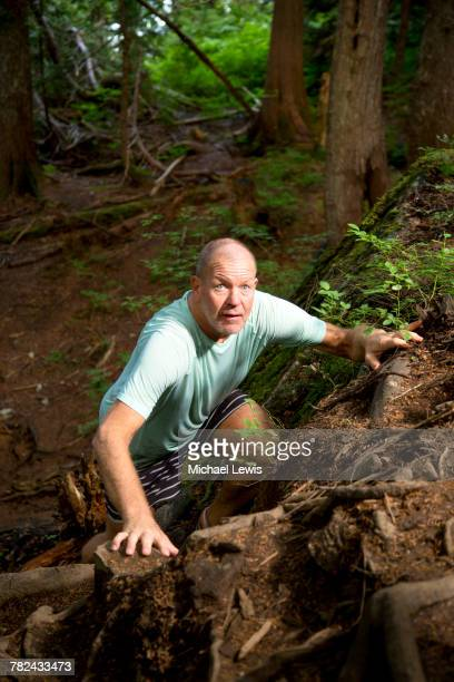 Lululemon founder Chip Wilson climbing Grouse Mountain Vancouver British Columbia Canada