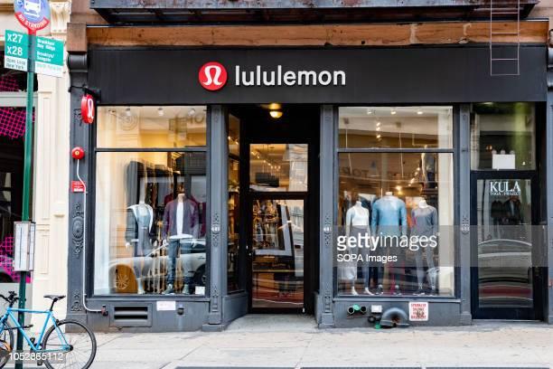 Lululemon store in the SoHo neighbourhood of New York City.