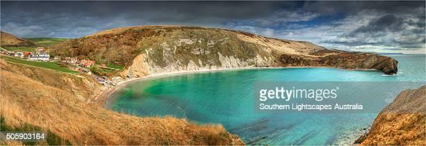 Lulworth cove, on the Jurassic coastline of Dorset, England, United Kingdom.