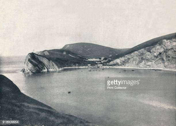 'Lulworth Lulworth Cove and Village' 1895 From Round the Coast [George Newnes Limited London 1895]Artist Unknown
