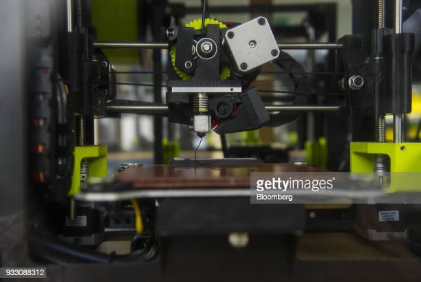 A LulzBot 3D printer sits at the Aleph Objects Inc production facility in Loveland Colorado US on Wednesday March 14 2018 Aleph Objects Inc develops...