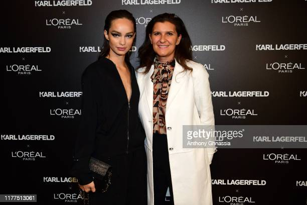 Luma Grothe and Delphine Viguier attend the Karl Lagerfeld x L'Oréal Paris launch during Paris Fashion Week, Womenswear Spring Summer 2020,on...