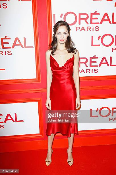 Luma Grothe attends the L'Oreal Red Obsession Party during Paris Fashion Week Womenswear Fall/Winter 2016/2017 on March 8 2016 in Paris France
