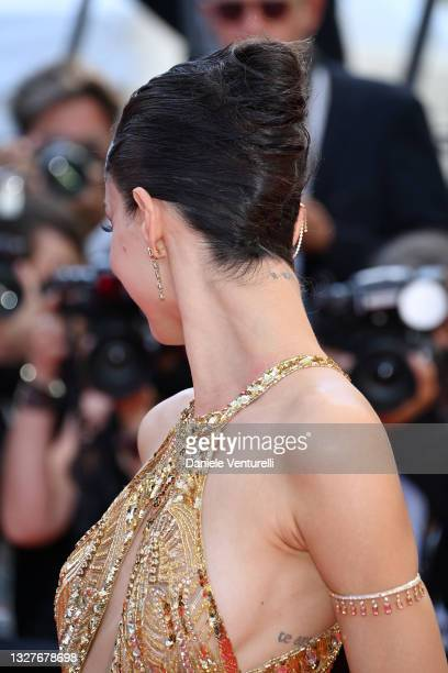 """Luma Grothe attends the """"Stillwater"""" screening during the 74th annual Cannes Film Festival on July 08, 2021 in Cannes, France."""