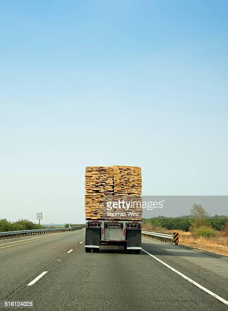 Lumber Truck on Interstate 5