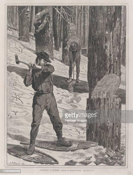 Lumbering in Winter , January 28, 1871. Artist John Parker Davis.