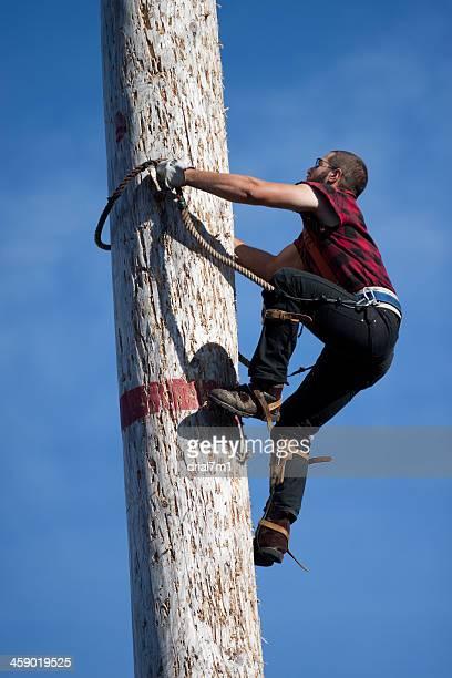 Lumberjack Climbing Pole