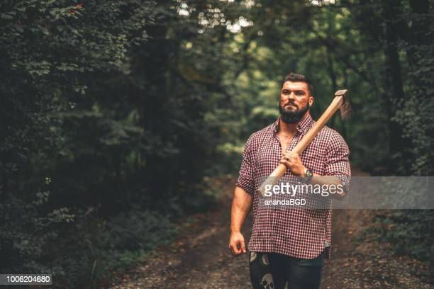 lumberjack - macho stock pictures, royalty-free photos & images