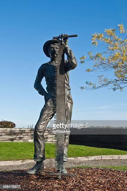 Lumberjack Statue in a Park