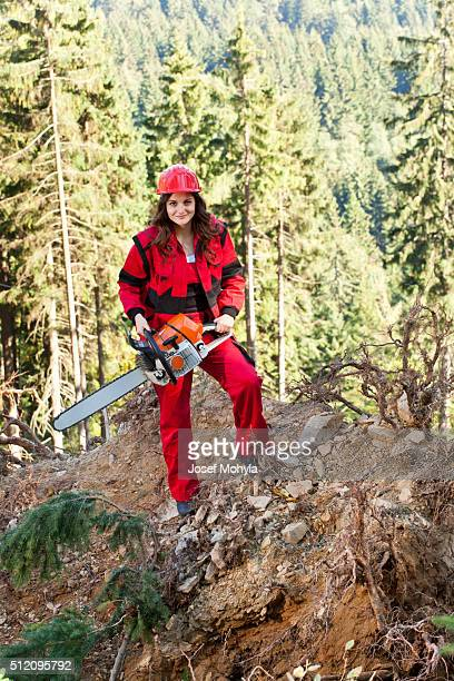 Lumberjack with chainsaw