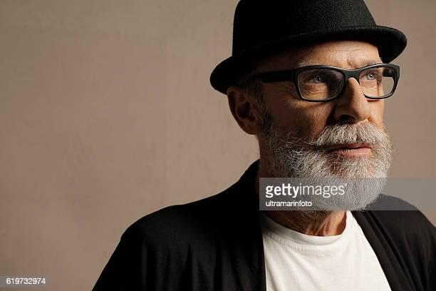 Lumbersexual  Bearded  Senior men hipster