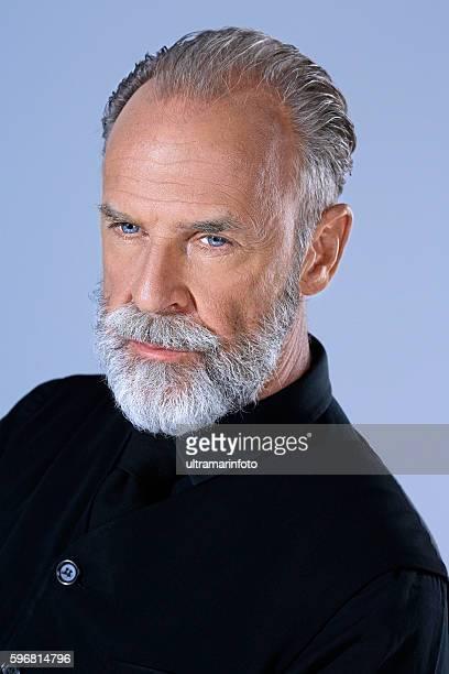 Lumbersexual  Bearded  Senior men hipster  Portrait  Frano Lasic
