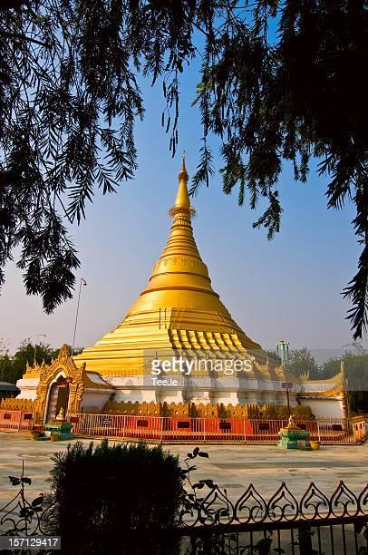 lumbini - lokamani cula pagoda - lumbini nepal stock pictures, royalty-free photos & images