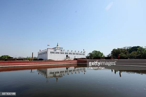 lumbini, the birthplace of lord buddha - lumbini nepal stock pictures, royalty-free photos & images