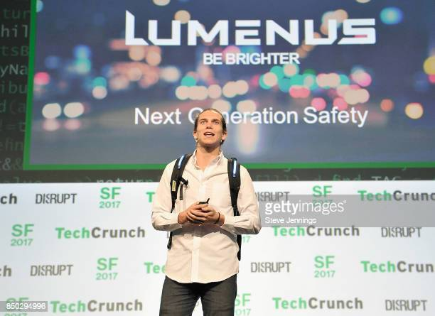 Lumenus Founder Jeremy Wall speaks onstage during TechCrunch Disrupt SF 2017 at Pier 48 on September 20 2017 in San Francisco California