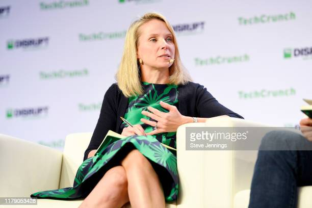 Lumi Labs Co-founder Marissa Mayer speaks onstage during TechCrunch Disrupt San Francisco 2019 at Moscone Convention Center on October 04, 2019 in...
