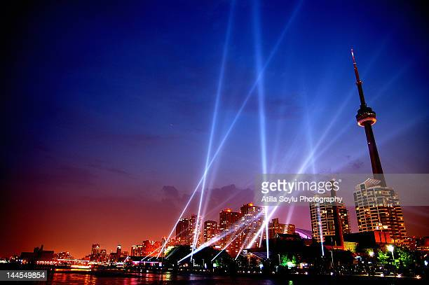luminato lights of  toronto - toronto stock-fotos und bilder
