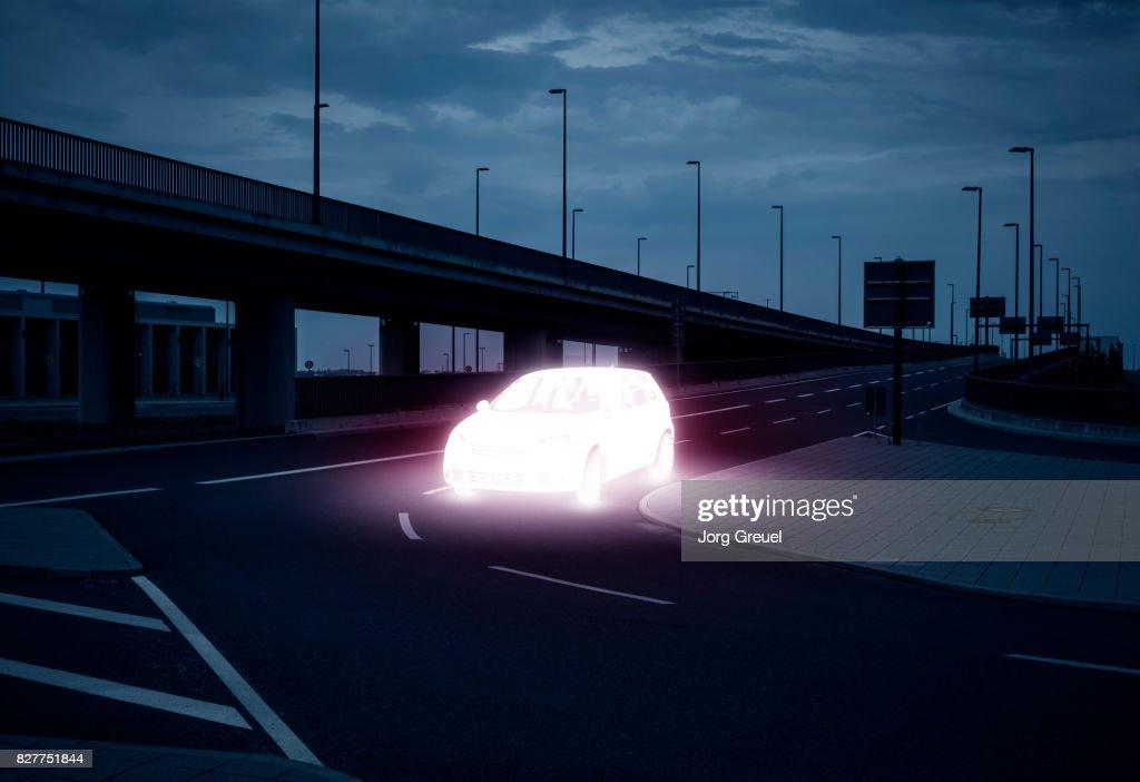 Luminous car : Stock Photo