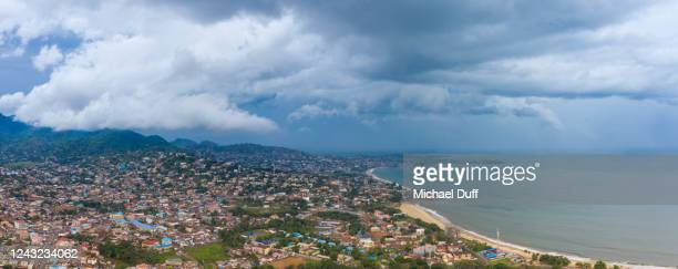 lumley beach in freetown, sierra leone - sierra leone stock pictures, royalty-free photos & images