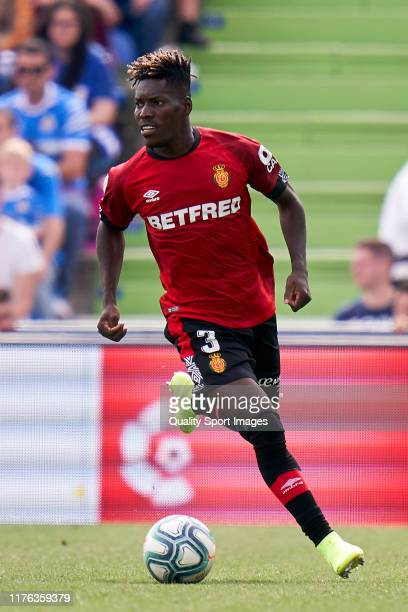 Lumor of RCD Mallorca runs with the ball during the La Liga match between Getafe CF and RCD Mallorca at Coliseum Alfonso Perez on September 22 2019...