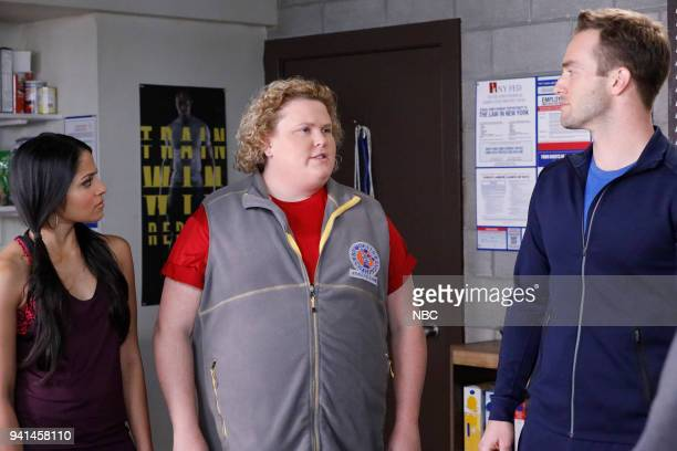 CHAMPIONS 'Lumps' Episode 104 Pictured Mouzam Makkar as Brittany Fortune Feimster as Ruby Andy Favreau as Matthew