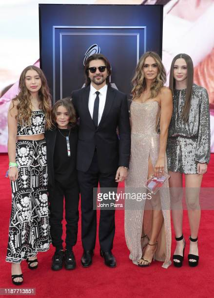 Luna Aristizábal Dante Aristizábal Karen Martínez Juanes and Paloma Aristizábal attend the 20th annual Latin GRAMMY Awards at MGM Grand Garden Arena...