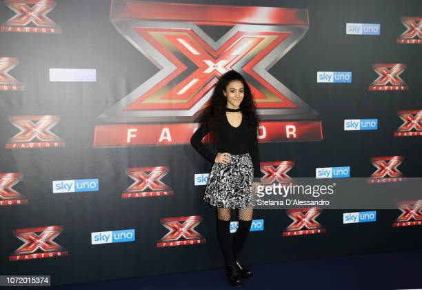 Luna attends X Factor 2018 Photocall on December 12 2018 in Milan Italy