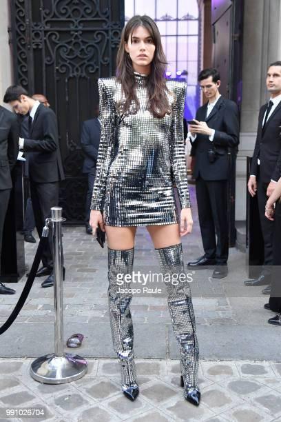 Luna Bijl arrives at the 'Vogue Foundation Dinner 2018' at Palais Galleria on July 3 2018 in Paris France