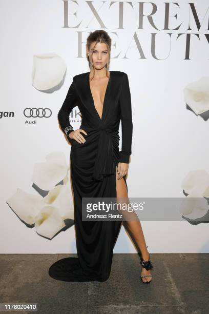 Luna Bijl attends the Vogue Italia Cocktail Party during the Milan Fashion Week Spring/Summer 2020 on September 20 2019 in Milan Italy