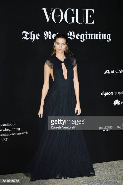 Luna Bijl attends the Vogue Italia 'The New Beginning' Party during Milan Fashion Week Spring/Summer 2018 on September 22 2017 in Milan Italy