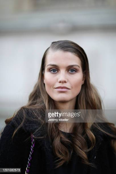 Luna Bijl before Chanel Haute Couture Show on January 21, 2020 in Paris, France.