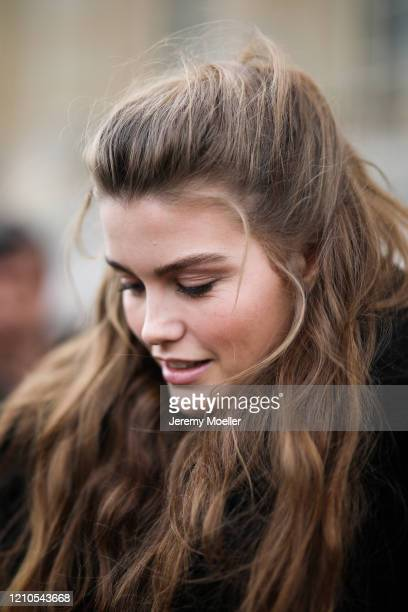 Luna Bijl is seen outside the Chanel show during Paris Fashion week Womenswear Fall/Winter 2020/2021 Day Eight on March 02, 2020 in Paris, France.