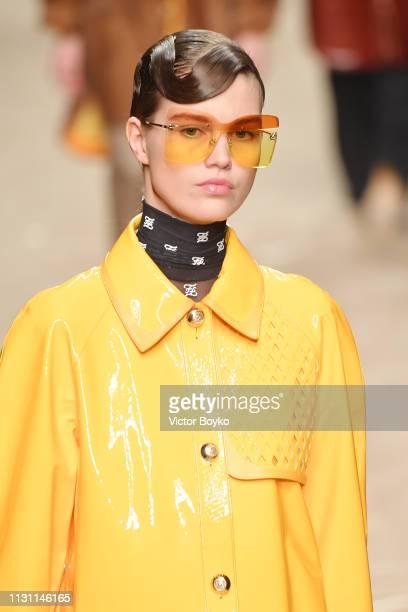 Luna Bijl walks the runway at the Fendi show at Milan Fashion Week Autumn/Winter 2019/20 on February 21 2019 in Milan Italy