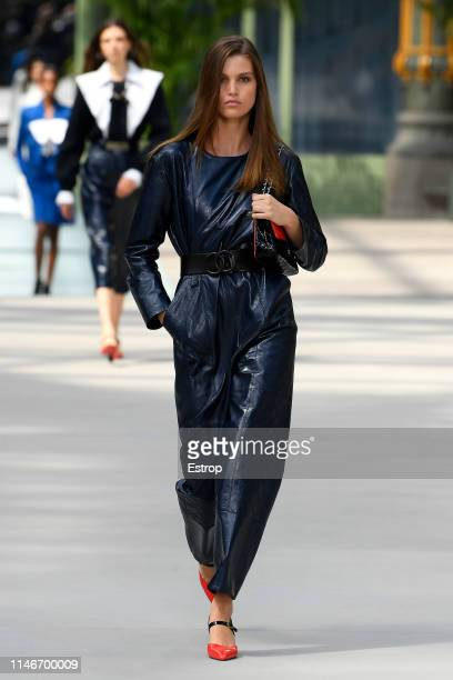 Luna Bijl walks the runway during Chanel Cruise 2020 Collection at Le Grand Palais on May 3 2019 in Paris France