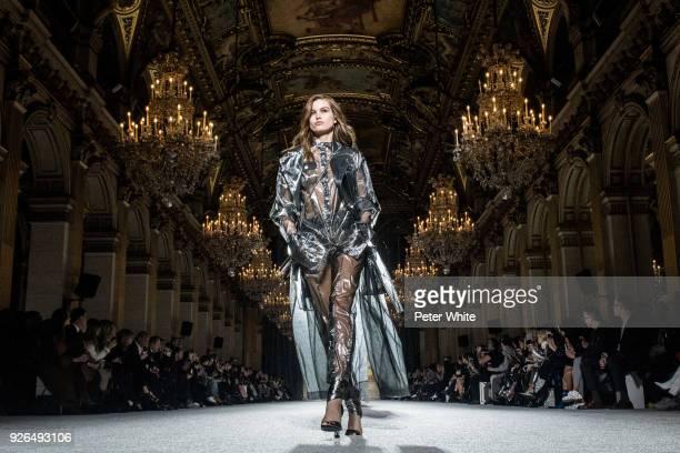 Luna Bijl walks the runway during the Balmain show as part of the Paris Fashion Week Womenswear Fall/Winter 2018/2019 on March 2 2018 in Paris France