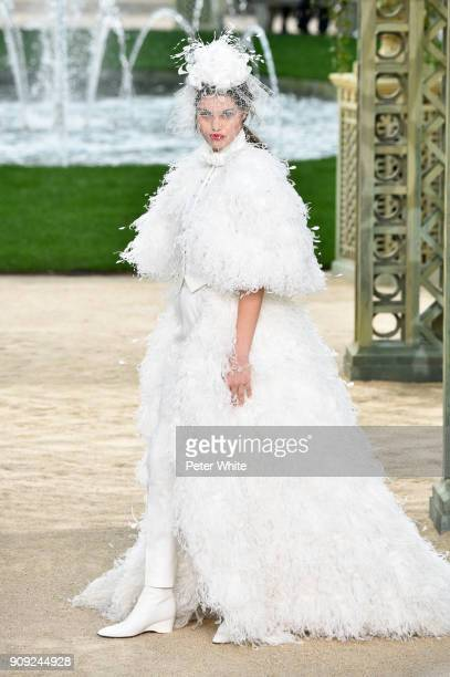 Luna Bijl walks the runway during the Chanel Spring Summer 2018 show as part of Paris Fashion Week on January 23 2018 in Paris France