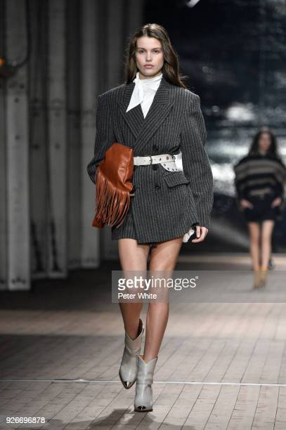 Luna Bijl walks the runway during the Isabel Marant show as part of the Paris Fashion Week Womenswear Fall/Winter 2018/2019 on March 1 2018 in Paris...