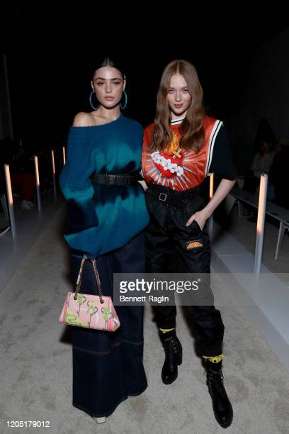 Luna Blaise and Larsen Thompson attend Palm Angels The Shows during New York Fashion Week on February 09 2020 on February 09 2020 in New York City