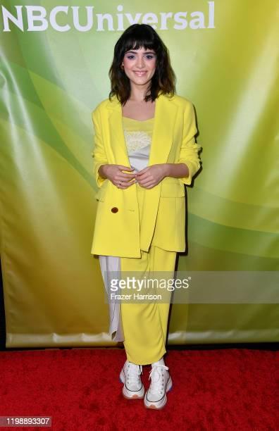 Luna Blaise attends the 2020 NBCUniversal Winter Press Tour 45 at The Langham Huntington Pasadena on January 11 2020 in Pasadena California