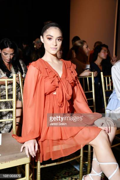 Luna Blaise attends the Dennis Basso Spring/Summer 2019 Collection Runway Show during New York Fashion Week at Cipriani 42nd Street on September 10...